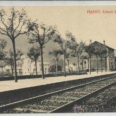 Postales: FIGARÓ-ESTACIÓ DEL F.C(REF-1114). Lote 29905064