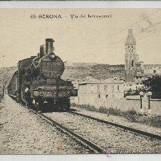 Postales: GERONA-40-VIA DEL FERRO-CARRIL(REF-1122). Lote 29905328
