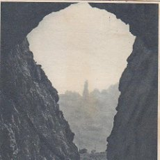 Postales: AÑO 1929: MONTSERRAT: TÚNEL DEL ÁNGEL. BONITA TARJETA POSTAL ZERKOWITZ CIRCULADA A LA GARRIGA. Lote 29955425