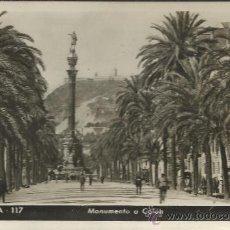 Postales: BARCELONA MONUMENTO A COLON CIRCULADA . Lote 29990240