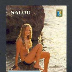Postales: POSTAL DE SALOU: PLATJA DEL RECÓ. NU, DESNUDO, EROTICA (ESCUDO DE ORO NUM.30). Lote 218458906