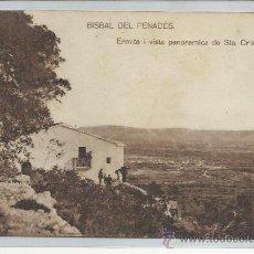 Postales: BISBAL DEL PENADÉS-ERMITA I VISTA PANORAMICA DE STA CRISTINA(REF-1164). Lote 30062352