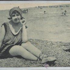 Postales: BARCELONA-4-BAÑOS DE MAR SAN SEBASTIAN(REF-1197). Lote 30062487