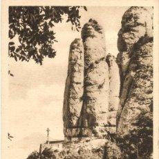 Postales: MONTSERRAT - PEÑASCOS - MATASELLOS MONASTERIO - CIRCULADA 1950. Lote 30195305