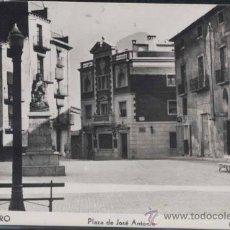 Postales: MORA DE EBRO (TARRAGONA).- PLAZA DE JOSE ANTONIO.. Lote 211259841