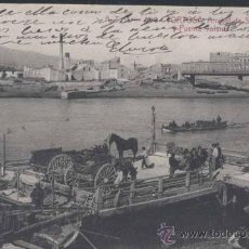 Postales: TORTOSA (TARRAGONA).- ARRABAL DE SAN VICENTE Y PUENTE VOLANTE. Lote 30255541