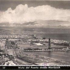 Postales: TARJETA POSTAL. BARCELONA. Nº 31. VISTA DEL PUERTO DESDE MONTJUICH. ED. A. ZERKOWITZ.. Lote 30386557