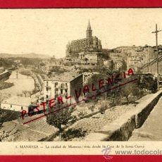 Postales: POSTAL, MANRESA, LA CIUDAD DE MANRESA, VISTA DESDE LA CASA DE LA SANTA CUEVA, P67448. Lote 30374985
