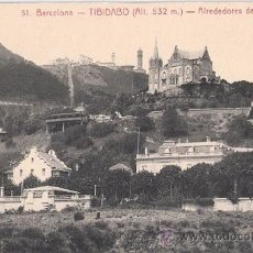 Postales: TARJETA POSTAL. BARCELONA. TIBIDABO, ALREDEDORES DE LA MONTAÑA. Nº 31. ED. L. ROISIN.. Lote 30490489