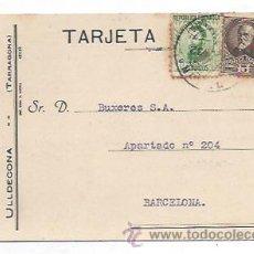 Postales: TARJETA PUBLICITARIA. CEREALES, HARINAS, ARROCES... BAUTISTA ROURE, ULLDECONA. 1932. . Lote 30511194