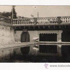 Postales: BARCELONA .- LA FONT DEL LLEO EN PEDRALBES ESTANQUE .- POSTAL FOTOGRAFICA. Lote 30574169