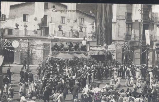 CAMPDEVANOL (GERONA).- LA PLAZA (Postales - España - Cataluña Antigua (hasta 1939))