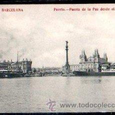 Postales: TARJETA POSTAL DE BARCELONA - PUERTO. PUERTA DE LA PAZ DESDE EL ANTEPUERTO. 11. FOTOTIPIA MADRIGUERA. Lote 30864192
