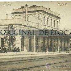 Postales: (PS-27179)POSTAL FOTOGRAFICA DE SABADELL-ESTACION FERROCARRIL. Lote 30870127