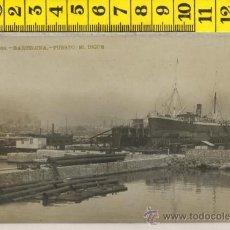 Postales: TARJETA POSTAL FOTO REAL DE BARCELONA PUERTO EL DIQUE BARCO . Lote 30910583