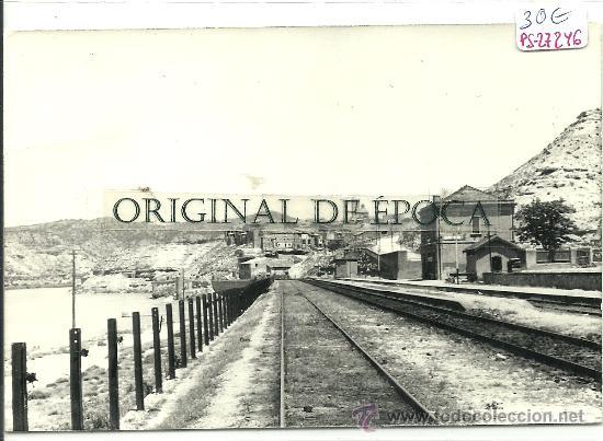(PS-27246)POSTAL DE RIBARROJA DEL EBRO-ESTACION DE FERROCARRIL (Postales - España - Cataluña Moderna (desde 1940))