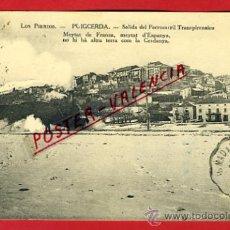 Postales: POSTAL, PUIGCERDA, GERONA, SALIDA DEL FERROCARRIL TRANSPIRENAICO, P67973. Lote 31143545