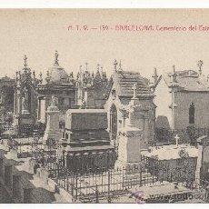 Postales: BARCELONA, CEMENTERIO DEL ESTE, PANTEONES.. Lote 31158950