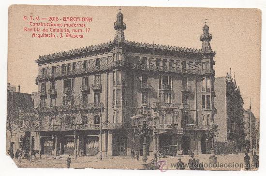 BARCELONA. CONSTRUCCIONES MODERNAS. RAMBLA DE CATALUÑA, NUM.17. ARQUITECTO: J. VILASECA. (Postales - España - Cataluña Antigua (hasta 1939))