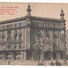 Postales: BARCELONA. CONSTRUCCIONES MODERNAS. RAMBLA DE CATALUÑA, NUM.17. ARQUITECTO: J. VILASECA.. Lote 31160709
