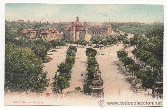 BARCELONA.- PARQUE. (Postales - España - Cataluña Antigua (hasta 1939))