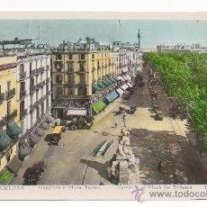 Postales: BARCELONA.- RAMBLAS Y PLAZA TEATRO.- RAMBLES ET PLACE DU THÉATRE.. Lote 31175056