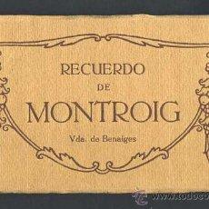 Postales: LLIBRE AMB 20 POSTALS DE MONTROIG DEL CAMP (ED.VDA.BENAIGES) (VEURE FOTOS ADICIONALS). Lote 31202535
