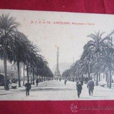Postales: BARCELONA - MONUMENTO A COLON. Lote 31316760