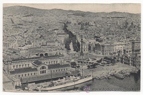 BARCELONA. - VISTA PARCIAL DESDE EL PUERTO. (Postales - España - Cataluña Antigua (hasta 1939))