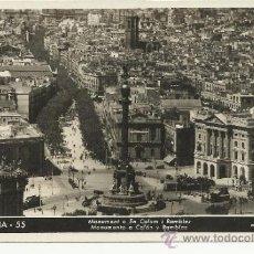 Postales: BARCELONA MONUMENTO A COLON CIRCULADA. Lote 31381008