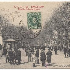 Postales: BARCELONA. - RAMBLA DE SANTA MÓNICA. (C.1905).. Lote 31394465