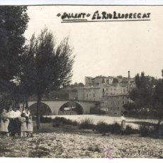 Postales: MUY BUENA FOTO POSTAL DE SALLENT - RIU LLOBREGAT -FOTO LLANAS CIRCULADA EN 1923. Lote 31581537