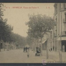 Postales: MANRESA - 5 - PASEO DE PEDRO III - J.G. -THOMAS - (10062). Lote 31582034