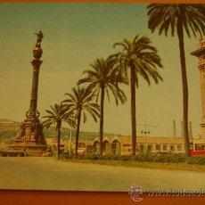 Postales: BARCELONA-PASEO COLÓN-TRANVÍAS-DISTR A. FABREGAT. Lote 31595941