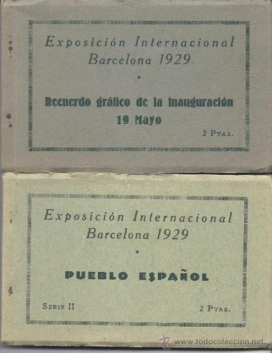 LOTE DE CUATRO BLOCS DE POSTALES DE LA EXPOSICIÓN INTERNACIONAL DE BARCELONA 1929 (Postales - España - Cataluña Antigua (hasta 1939))