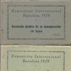 Postales: LOTE DE CUATRO BLOCS DE POSTALES DE LA EXPOSICIÓN INTERNACIONAL DE BARCELONA 1929. Lote 31664417