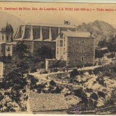Postales: LA NOU - 7 SANTUARI NTRA. SRA. DE LOURDES - VISTA MAJOR DEL SANTUARI. Lote 31665237