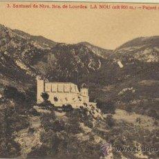 Postales: LA NOU - 3 SANTUARI NTRA. SRA. DE LOURDES - PUJANT AL SANTUARI. Lote 31665344