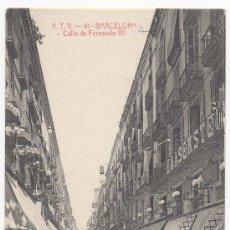 Postales: BARCELONA.- CALLE DE FERNANDO VII.. Lote 31672005