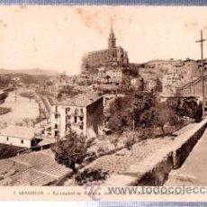 Postales: TARJETA POSTAL MANRESA, LA CIUDAD VISTA DESDE LA CASA DE LA SANTA CUEVA. Lote 31888085