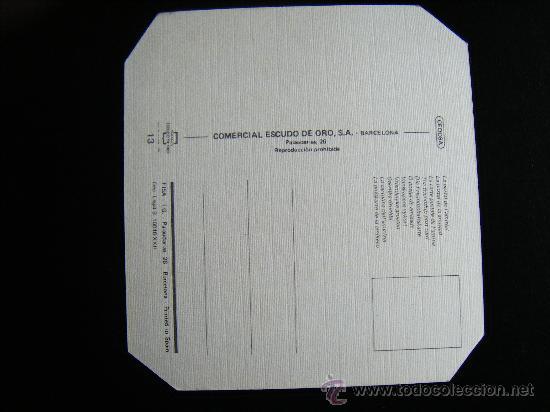 Postales: POSTAL LA POSTAL DE LA AMISTAL COMERCIAL ESCUDO DE ORO, Nº 13. CUADRADA. - Foto 2 - 31992458