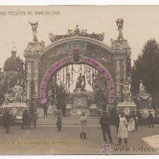 Postales: RECUERDO FIESTAS DE BARCELONA. PLAZA DE CATALUÑA: TEMPLETE.. Lote 32006705
