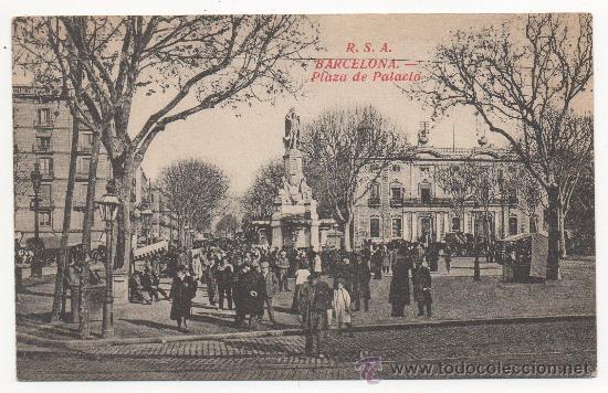 BARCELONA.- PLAZA DE PALACIO. (Postales - España - Cataluña Antigua (hasta 1939))