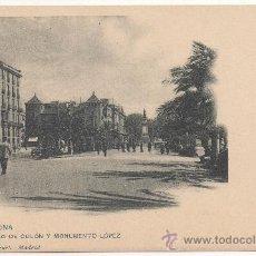 Postales: BARCELONA.- PASEO DE COLÓN Y MONUMENTO LÓPEZ.. Lote 32100230