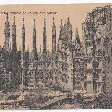 Postales: BARCELONA.- TEMPLO DE LA SAGRADA FAMILIA.. Lote 32105945