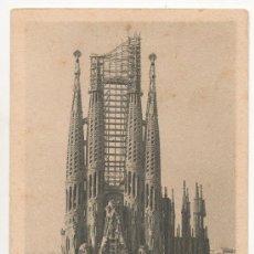 Postales: BARCELONA.- TEMPLO EXPIATORIO DE LA SAGRADA FAMILIA. FACHADA DEL NACIMIENTO Y ÁBSIDE.. Lote 32106981