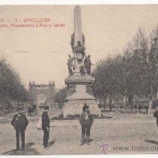 Postales: BARCELONA.- SALÓN DE SAN JUAN, MONUMENTO Á RIUS Y TAULET.. Lote 32188055