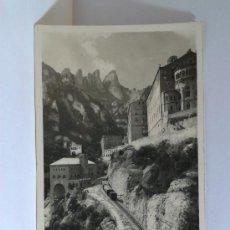Postales: POSTAL DE MONTSERRAT LLEGADA A MONTSERRAT. ZERKOWITZ. CIRCULADA 1952.. Lote 32192104