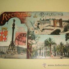 Postales: BARCELONA RECUERDO DE BARCELONA VARIAS VISTAS. Lote 32202876