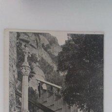 Postales: FUNICULAR DE MONTSERRAT A S. JUAN, PASO SOBRE EL CAMINO DEL VIA-CRUCIS, FOTO ZERKOWITZ, 1949. Lote 32307846